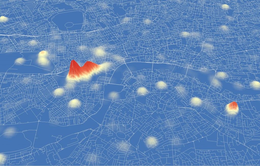 The Diamond Jubilee in London:  A Tweet Location Analysis